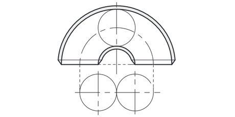 Edelstahlrohrbogen 2D