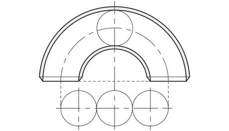 Edelstahlrohrbogen 3D
