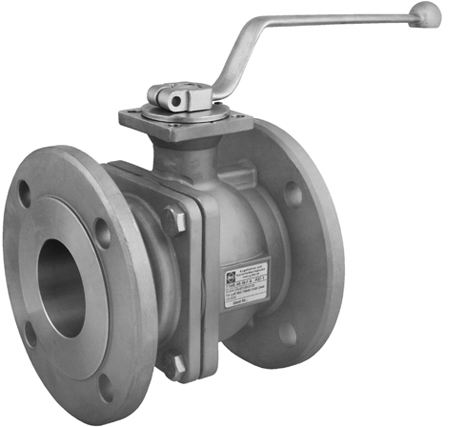 Ball valves with flanged ends