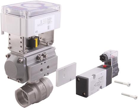 Pneumatic actuator with solenoid valve