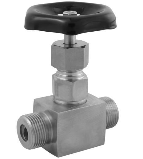 Jehlový ventil s nerezovým řezným kroužkem