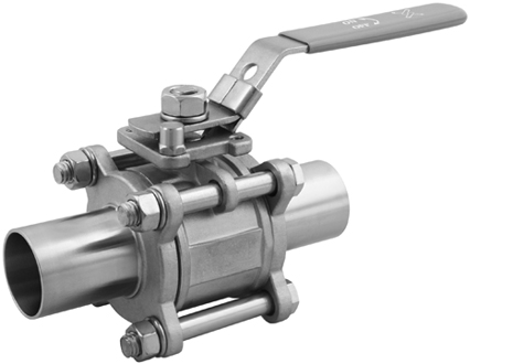 Ball valves with orbital weld-on ends