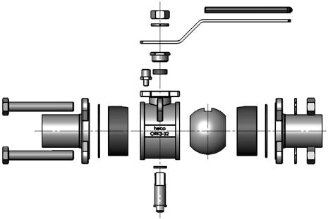 Orbitalanschweißkugelhahn Explosionszeichnung