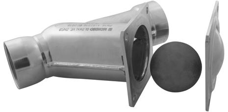 Kulový zpětný ventil z nerezi v mezipřírubovém provedení
