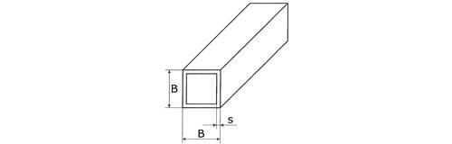 Edelstahl Rechteckrohr Profilrohr Quadratrohr Vierkantrohr V2A Stahl