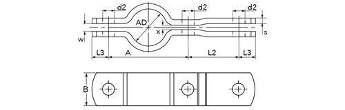 heco rohrschelle din 3567 form c form c. Black Bedroom Furniture Sets. Home Design Ideas