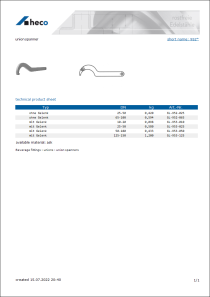 Data sheet union spanner