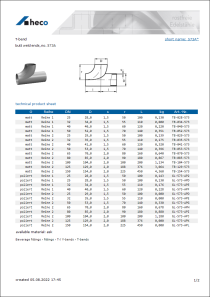 Data sheet T-bend