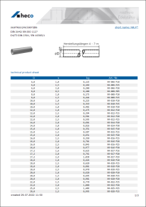 Data Sheet seamless precision tube