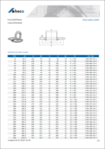 Data sheet loose plate flange