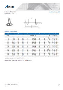 Data sheet loose plate flange PN 16