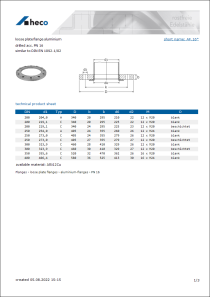 Data Sheet loose plate flange aluminium