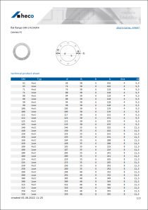 Data sheet flat flange DIN 24154/R4