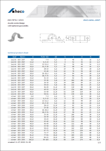 Data sheet pipe clamp, 1-piece