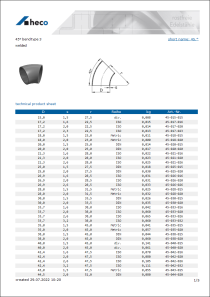Data Sheet 45° bend type 3