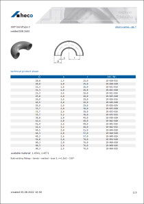 Data sheet 180° bend type 3