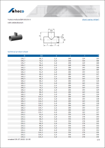 Data Sheet T-piece reduced EN 10253-3