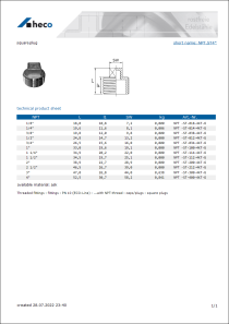 Data Sheet square plug