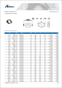 Data sheet flexible coupling, type 75