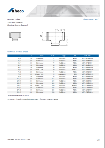 Data sheet grooved T-piece