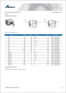 Data sheet female coupler, female thread