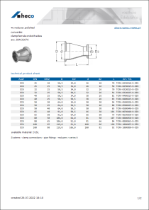 Data sheet TC-reducer, polished