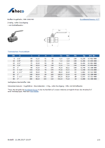 Data sheet Dummy couplings, kpl.