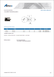 Data sheet Cross-bar end clamp