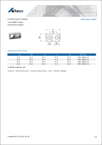 Data sheet Crossbar holder, rotatable