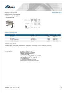 Data sheet universal limit switch box