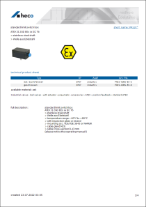 Data Sheet standard limit switch box