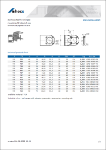 Data Sheet stainless steel mounting set