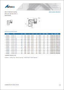 Data Sheet elbow male stud coupling