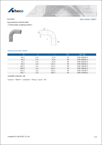 Data sheet bend 90°