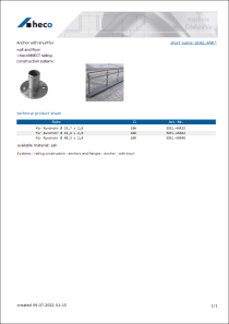 Data sheet Anchor with knurl for