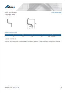 Data Sheet Bow for handrail support
