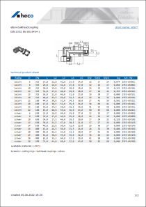 Data sheet elbow bulkhead coupling