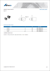 Data sheet adapter for glass chlamps