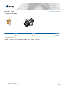 Data Sheet lubricant for gasket