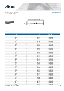 Data sheet seamless tube EN 10216-5