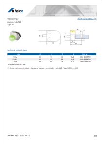 Data sheet Glass clamps,