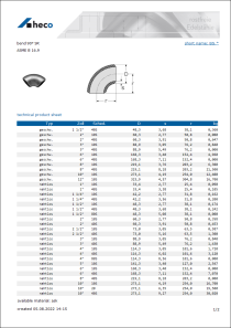 Data sheet bend 90° SR