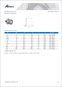 Data Sheet ISO clamp ferrule, long
