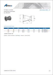 Data sheet TC-reducer, concentric