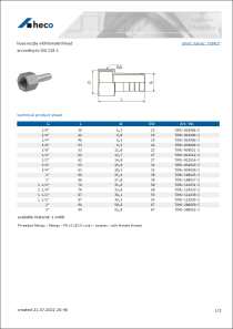 Data sheet hose nozzle with female thread