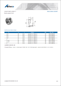 Data Sheet screw-in part, conical - F