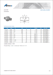 Data sheet union M/M