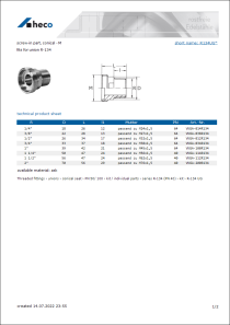 Data Sheet screw-in part, conical - M
