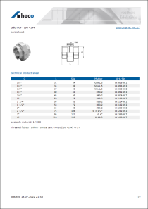 Data sheet union F/F - ISO 4144