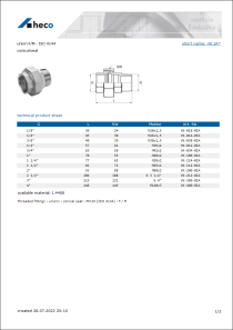 Data sheet union F/M - ISO 4144